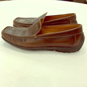 Eco Brown Leather Driving Loafer